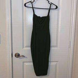Oh Polly midi khaki dress